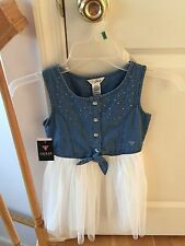 Guess Cute Girl  Blue DENIM TIE FRONT DRESS Size /Taille 6X