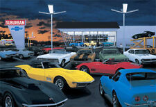 """Delivery Day...The 69's"" Car Art By Dave Snyder ,L-88 Corvette, New Free Ship"
