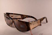 NOS VALENTINO V605 CAMOUFLAGE GOLD Vintage Sunglasses made in Italy '90s