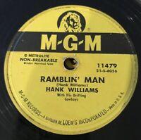 78-HONKY TONK-HANK WILLIAMS - MGM 11479 Ramblings Man
