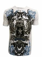 Konflic Men's Double Headed Revolution Bird Graphic Designer MMA T Shirt