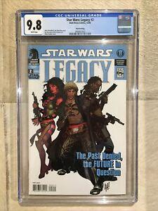 STAR WARS: LEGACY #2 3RD PRINT CGC 9.8 (NM/MT) SUPER RARE UK ADAM HUGHES COVER