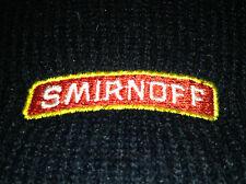 Smirnoff Vodka Vintage Black & Red Knit Roll Beanie Ski Hat Cap Booze Promo