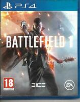 Battlefield 1 (Sony PlayStation 4, 2016) - Excellent Condition - FREE SHIPPING