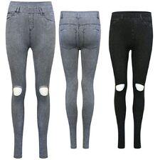 Solid Pattern 100% Cotton Leggings for Women