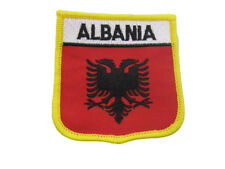 Albania Albanian Country Flag Wholesale lot of 6 Iron On Patch