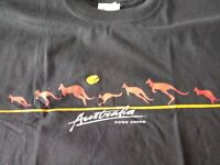 Australia Down Under Mens Tshirt XL Black Kangaroo Outback