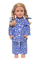 "Doll Clothes Snowflake Pajamas Fits American Girl Doll & Other 18"" Dolls NEW"