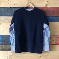 English Factory Sweatshirt Long Sleeve Blue Women's Sz M