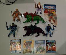 Vintage Battle Armour He Man Skeletor plus Battle Cat Adam and more Bundle