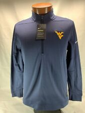 Nike West Virginia 1/2 ZIP Therma HZ Top Mens Medium  NWT