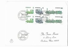 SWEDEN FIRST DAY COVER LOCOMOTIVES 1975