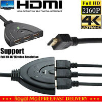 3 Port HDMI Splitter cable 1080P Multi Switch Adapter HUB Box LCD HDTV PS3 XBOX