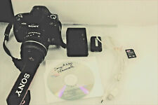 "Sony Alpha A230 10.2MP DSLR ,2.7"" LCD +Sony SAL 18-55mm 491 clicks, MINT"