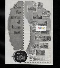 CENTRAL & WESTERN RAILWAYS OF INDIA SEE THE GLORIES OF INDIA'S PAST TAJ AGRA AD