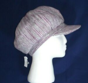 Ladies trendy flat cap hat Peaky Blinders country life Purple, smart fashion NEW