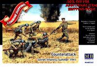 Master Box 3563 Counterattack. Soviet Infantry Summer 1941 6fig plastic kit 1/35