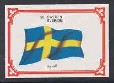 Monty Gum 1980 Flags Cards - Card No 96 - Sweden (T635)