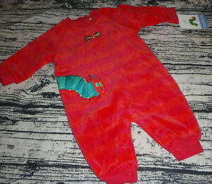 Carter's Eric Carle One Piece Velour Romper Outfit Caterpillar Butterfly NWT