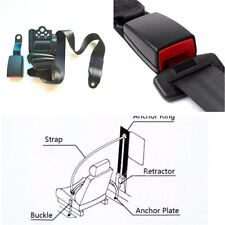 Adjustable 3 Point Seat Belt Lap & Diagonal Belt Kit For All Cars SUV Bus Truck