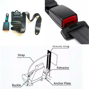Adjustable 3 Point Seat Belt Lap&Diagonal Belt Kit For All Cars SUV Bus Truck