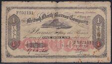 British North Borneo Company 1 dollar 1930, F*, Pick 14