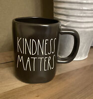 Rae Dunn - KINDNESS MATTERS - Black Ceramic Coffee Mug - Mother's Day
