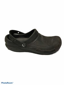 Crocs At Work Bistro Unisex Clogs Black Slip On 10075 Mens 10 Womens 12