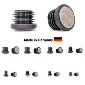 Redondo Ciego Tapón Tubo Insertable Muebles Pies Hecho en Alemania/Fieltro