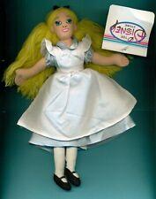"Alice in Wonderland Alice doll 9"" Disney Bean Bag Plush bean bag LOOK"