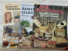 Basket Weaving Lot of 3 Basic Basketry Tomorrow's Treasures Learn By Doing