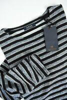 RRP €90 SCOTCH & SODA Men's X LARGE Stripped Long Sleeves Top T-shirt 5802*mm