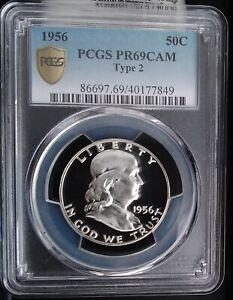 1956 T2 PCGS  PR69 CAM  GOLD SHIELD TRUEVIEW TOP POP WHITE CAMEO FRANKLIN ULTRA