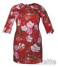 So Fabulous Women's Shift Dress New Floral 3/4 Sleeve Frill Ladies Dress BNWT