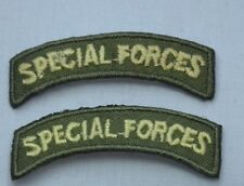 2x ARMY SPECIAL FORCES 5cm 2' Embroidered Iron Sew On Cloth Patch Badge APPLIQUE