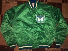 HARTFORD Whalers Vtg 1980s 80s Hockey STARTER jacket Jersey New England GC L/XL