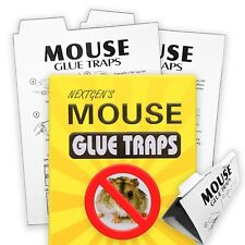 Super Sticky Mouse Glue Trap for Rat & Mice Twin Pack 2 Pads - Now With Bait
