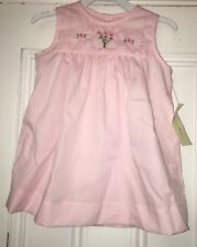 Fantaisie Bebes Girls Pink Embroidered Flower Dress Sz 18m NWT