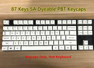 87/104 Keys SA PBT Dyeable Keycap Set Keycaps for Cherry MX Mechanical Keyboard