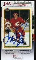 Joe Nieuwendyk JSA Coa Hand Signed 1990 Bowman Autograph