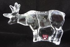 """Orrefors Sweden Crystal Reindeer (approx 5"""" long; 3"""" tall)"""