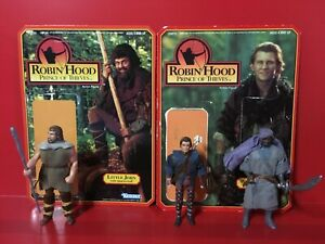 Robin Hood - Prince of Thieves - Figure Lot of 3 + 2 Backing Cards : 1991 KENNER