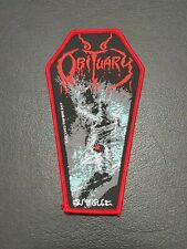 Obituary Cause Of Death Patch for jacket t-shirt Iron on Clothing Woven Badge