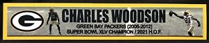 CHARLES WOODSON GREEN BAY PACKERS   FULL COLOR NAME PLATE
