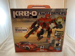 KRE-O Transformers SIDESWIPE 220 Piecelocks 2 IN 1 Sport Car or Robot 31771