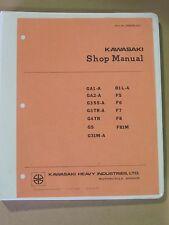 Kawasaki Shop Manual  Reprint of Original     Covers G & F Models to 1972 P-1476
