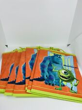 "Disney Pixar Gift Bags lot of 8 monsters inc 9 1/2 x 8 "" hallmark COLLECTIBLE"