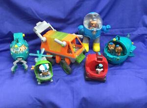 Large Lot Of Mattel Octonauts Vehicles Including Six Figurines