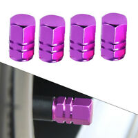 4Pc Aluminum Purple Tire Wheel Rims Stem Air Valve Caps Tyre Cover Car 16*9mm ss