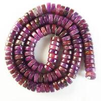 1 strand 8x3mm Purple Lepidolite Heishi Spacer Loose Bead 15.5 inch CG1929